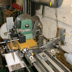 OT lathe with second shaft for RE function