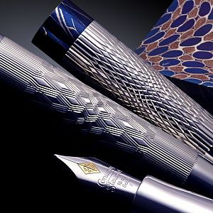 Prototype engraving for a line of pens