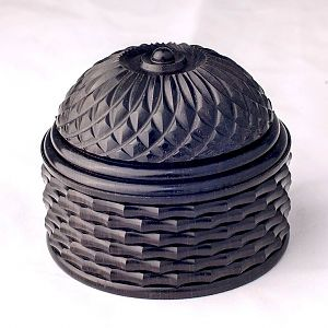 "African Blackwood box 3"" Diameter x 2-1/2"" High"